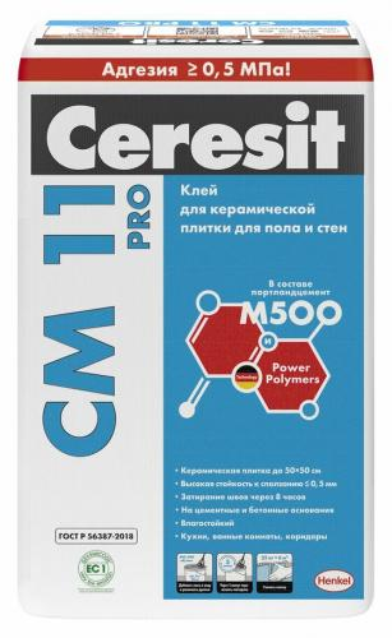 Ceresit CM 11 PRO Клей для плитки, 25 кг