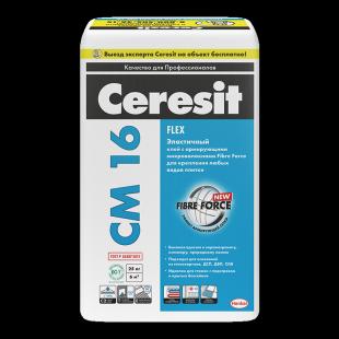 Ceresit CM 16 Flex Эластичный клей для всех видов плитки, 25 кг