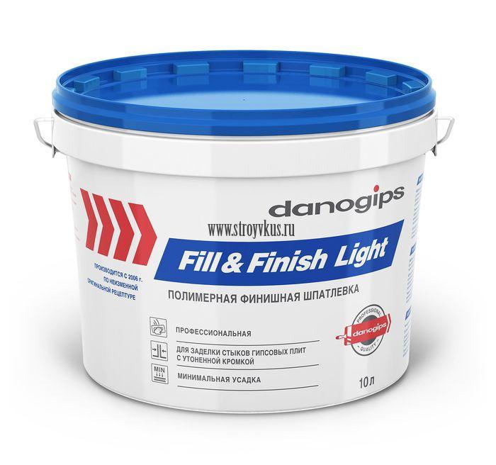 Danogips Fill & Finish light (Шитрок) Шпатлевка облегченная