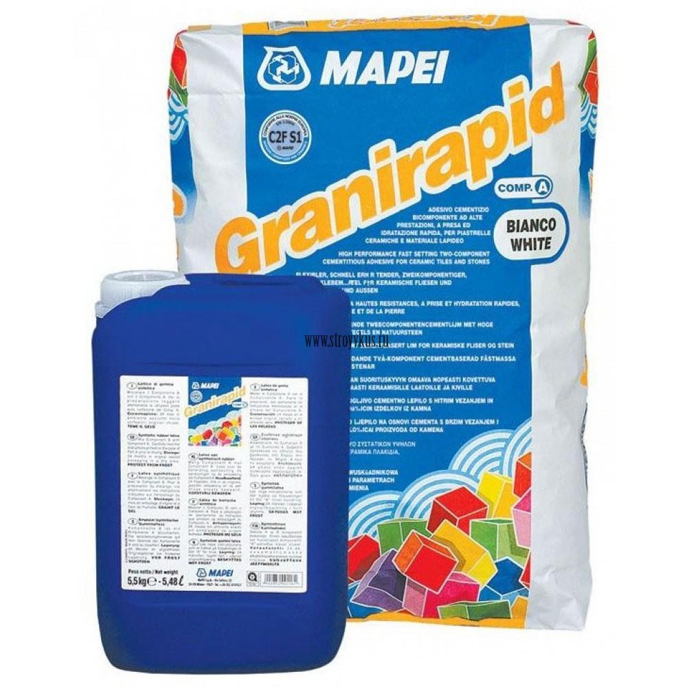 Mapei Granirapid (A+B) Двухкомпонентный клей для плитки