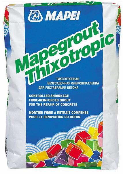 Mapei Mapegrout Thixotropic Безусадочная тиксотропная смесь с фиброй
