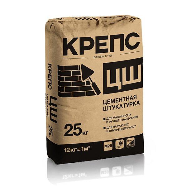 Крепс Штукатурный состав цементный ЦШ, 25 кг