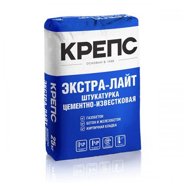 """Крепс Штукатурный состав """"Экстра-лайт"""", 25 кг"""