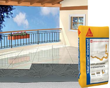 SikaCeram Universal Клей для плитки, 25 кг