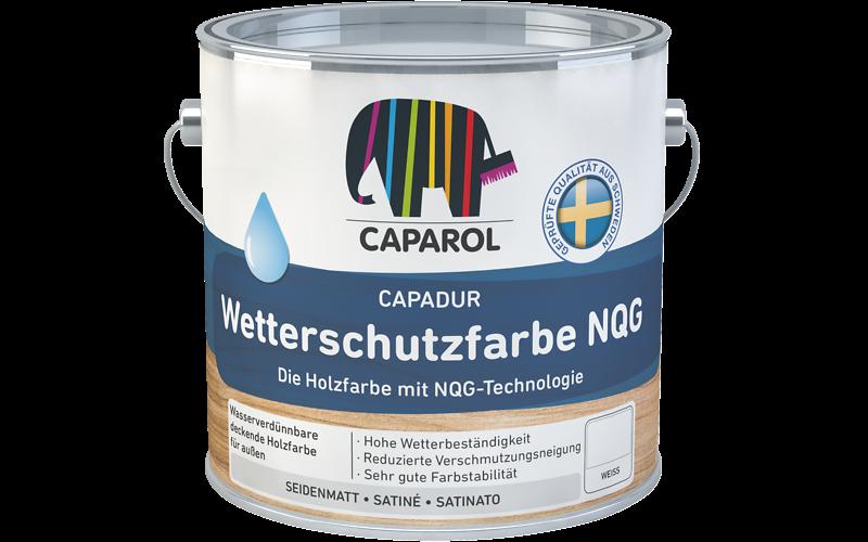 Краска водно-дисперсионная для наружных работ Caparol Capadur Wetterschutzfarbe NQG / Кападур Веттершутцфарбе NQG